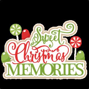 Sweet Christmas Memories title scrapbook clip art christmas cut.