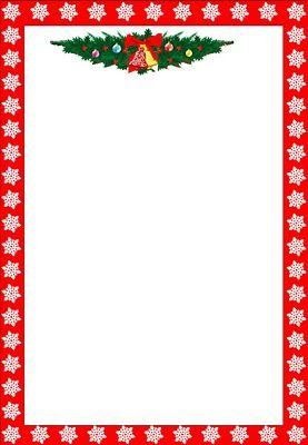 free christmas menu borders.