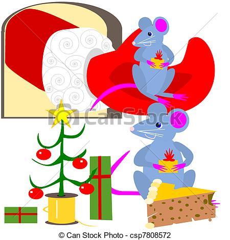 Christmas mice Illustrations and Clip Art. 537 Christmas mice.