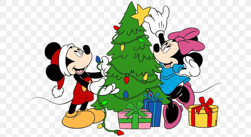 Mickey Mouse Minnie Mouse Pluto Christmas Clip Art, PNG.