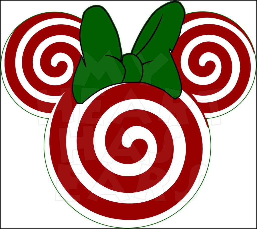 Christmas Candy Cane Lollipop Minnie Mouse INSTANT DOWNLOAD.