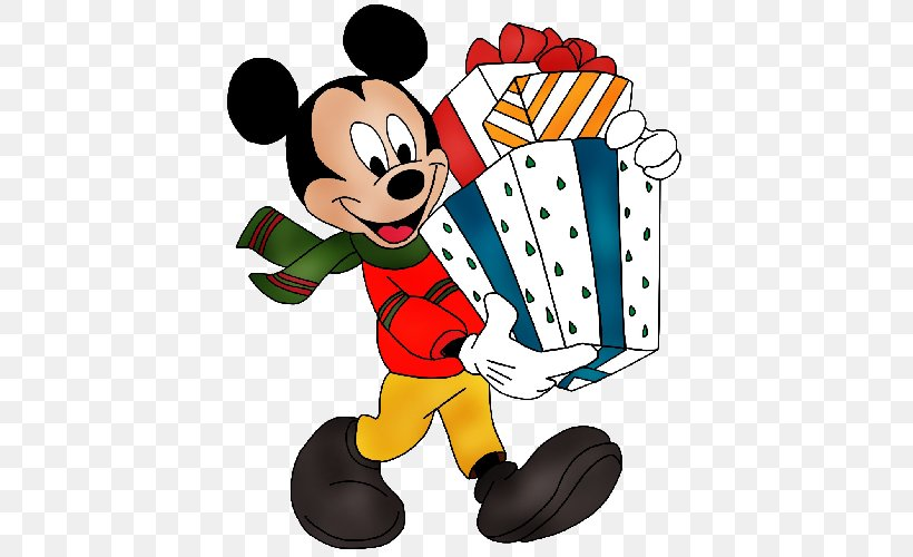 Mickey Mouse Minnie Mouse Christmas Clip Art, PNG, 500x500px.