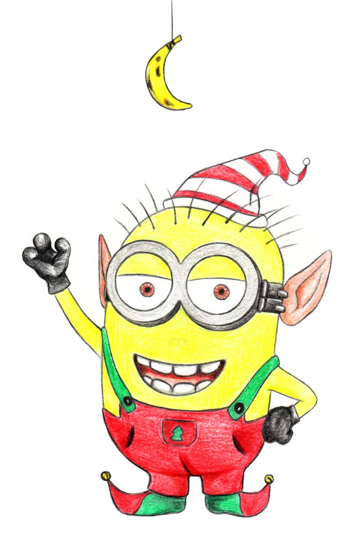 Christmas minion clipart.