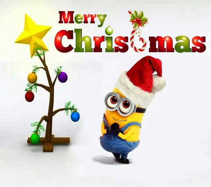 A Minion's Charlie Brown Christmas Tree! #Minions #Christmas.