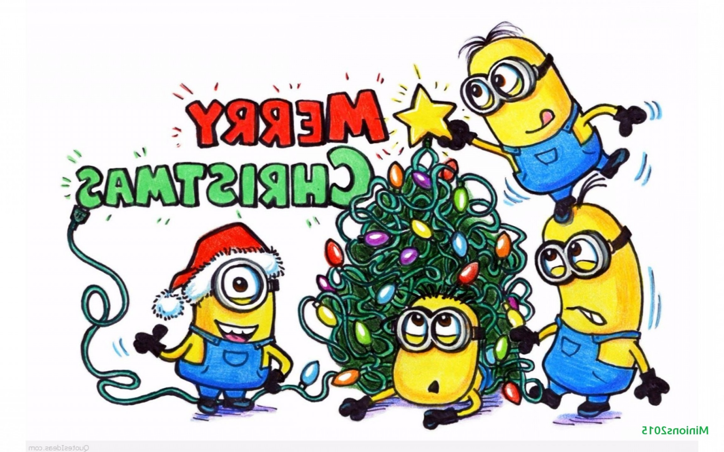 Merry Christmas Minions Images Awesome Minions Christmas Minion.