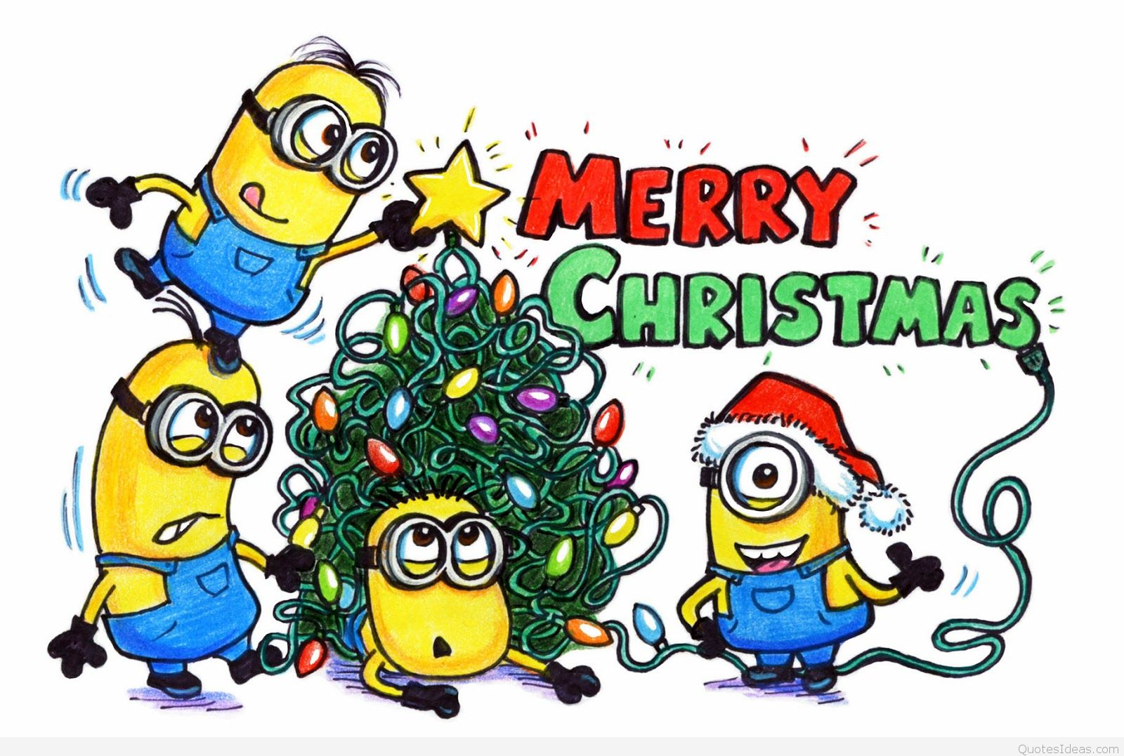 Merry christmas minions clipart collection.