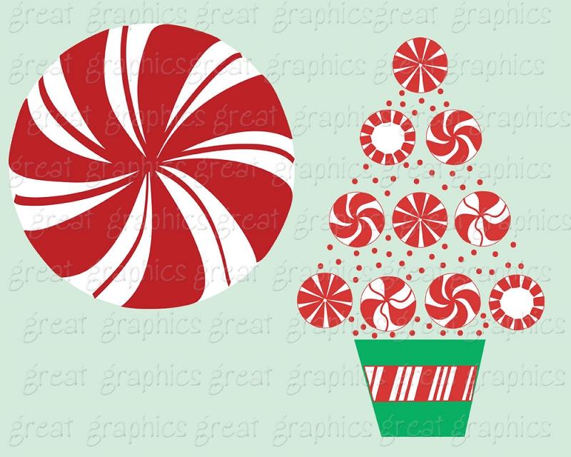 Christmas Peppermint Clipart.