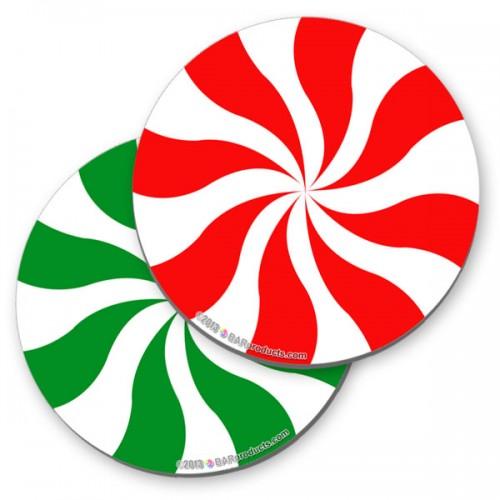 Christmas Peppermint Foam Kolorcoat™ Coaster.