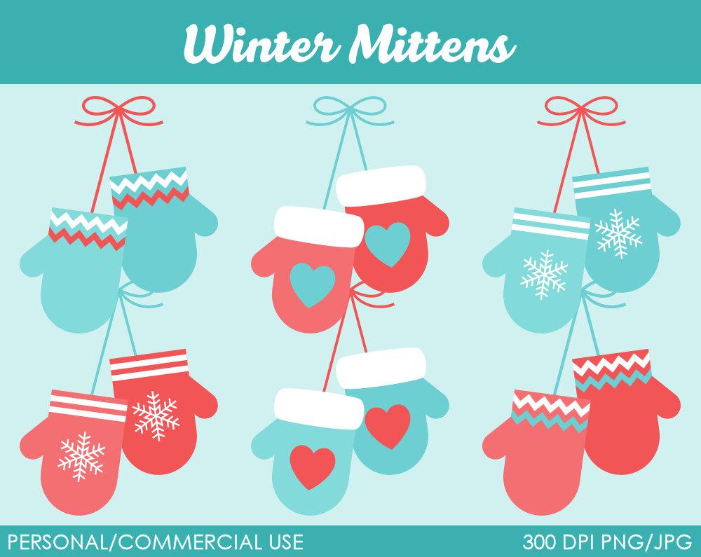 Cute Mittens Clipart.