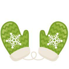 Green Mitten Clipart.