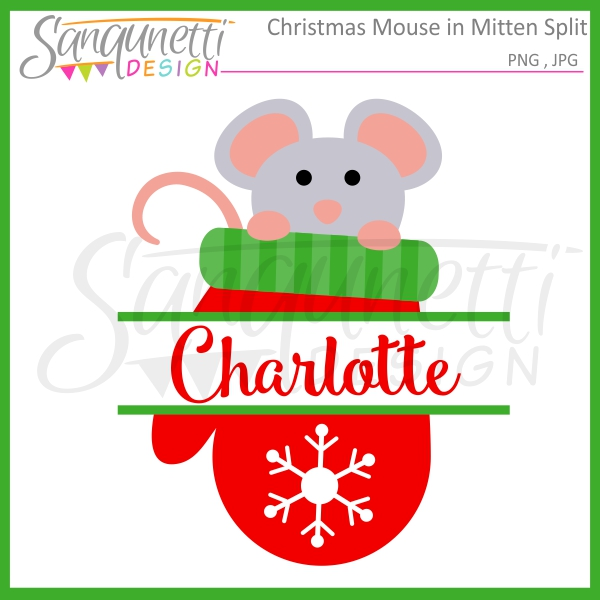 in Christmas Mitten Split Clipart.
