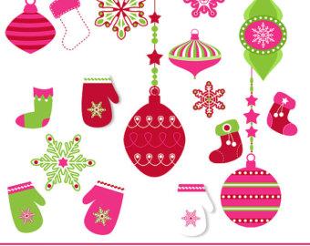 Christmas Mittens Clip Art.