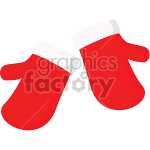 christmas mittens icon . Royalty.