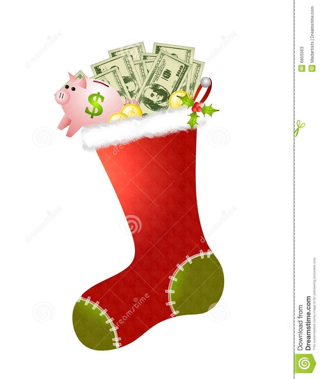 Christmas money clipart.