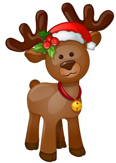 Christmas Moose Clipart.