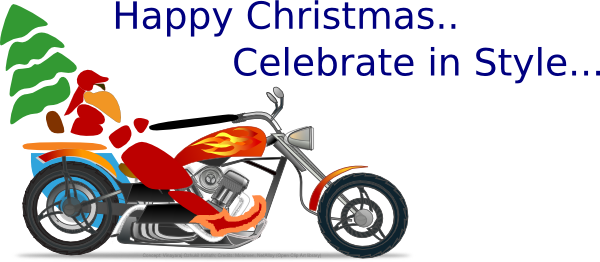 Christmas Motorcycle Clip Art at Clker.com.