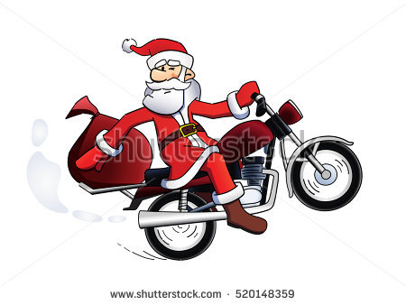 Christmas Motorcycle Stock Images, Royalty.