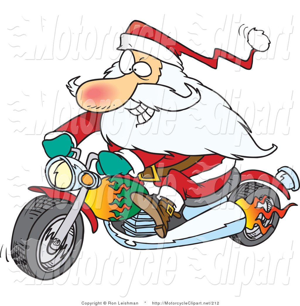 Royalty Free Christmas Stock Motorcycle Designs.