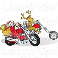 Motorcycle Clip Art Christmas.