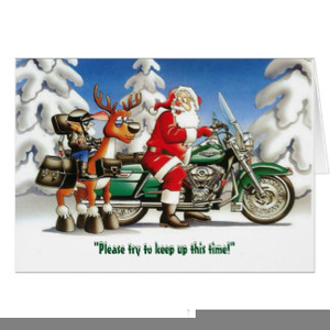 Motorcycle Christmas Clipart.