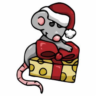 Christmas Mouse Photo Statuettes, Cutouts & Sculptures.