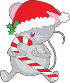 Clip Art of Christmas Mouse k8104219.