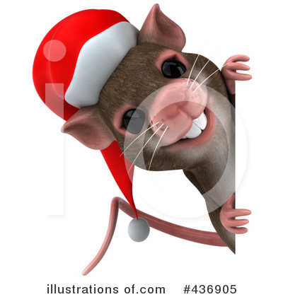Christmas mouse clipart.