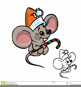 Free Christmas Mouse Clipart.