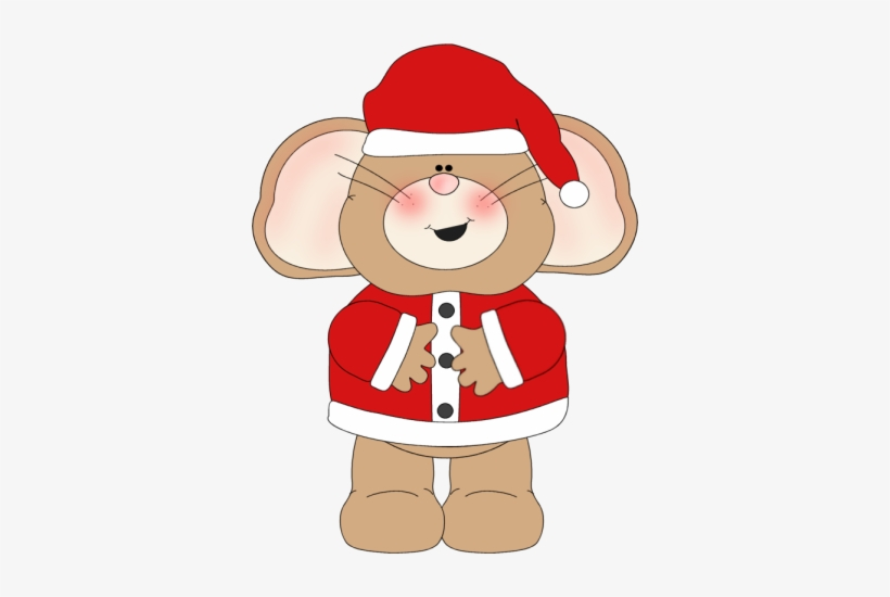 Mouse Clipart Cute Christmas.