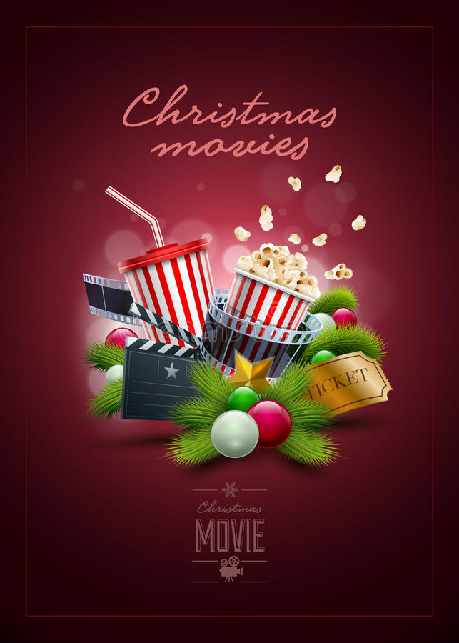 Christmas Movie Stock Illustrations.