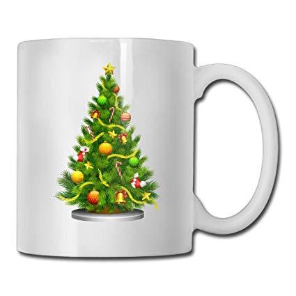 Amazon.com: Transparent Christmas Tree Clipart Custom Coffee.