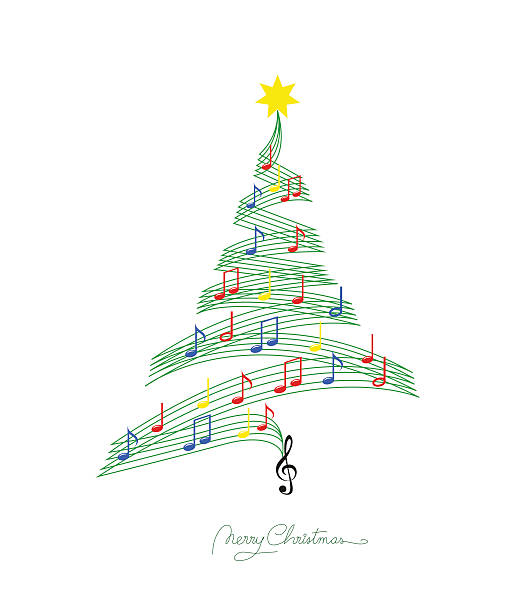 Best Christmas Music Illustrations, Royalty.