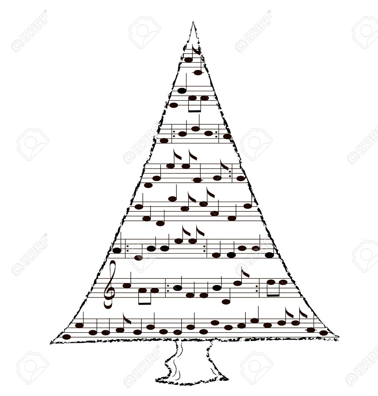 Christmas music clipart black and white 4 » Clipart Portal.