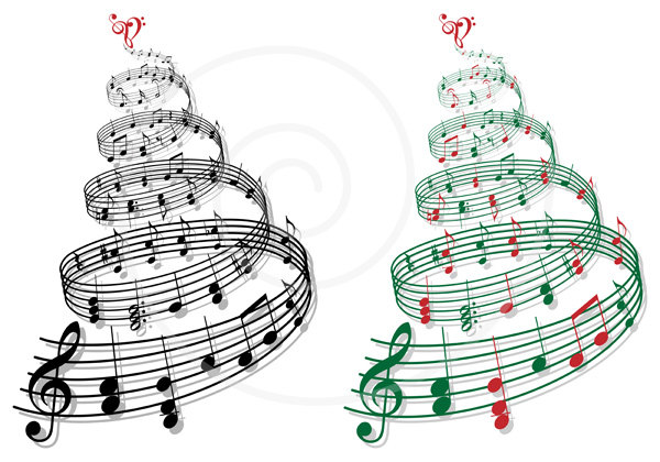 Free Christmas Music Clipart.