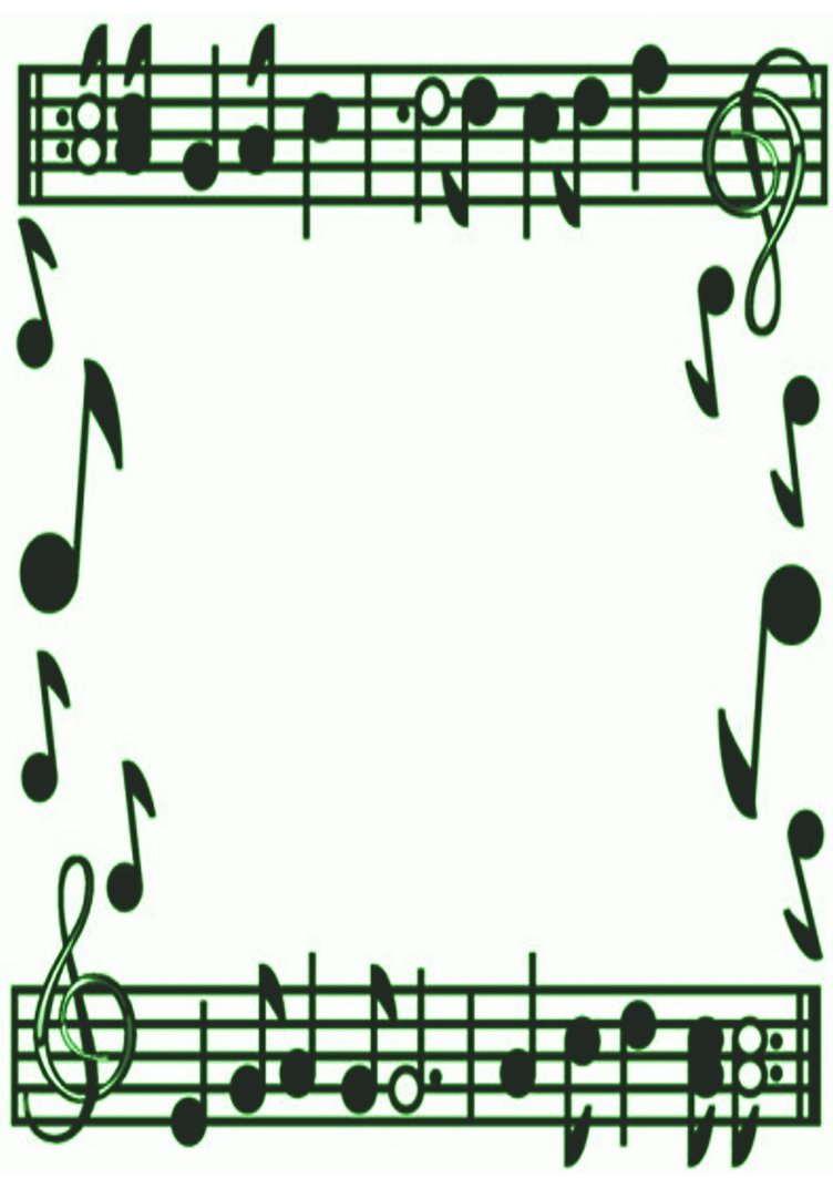 Music Notes Border.