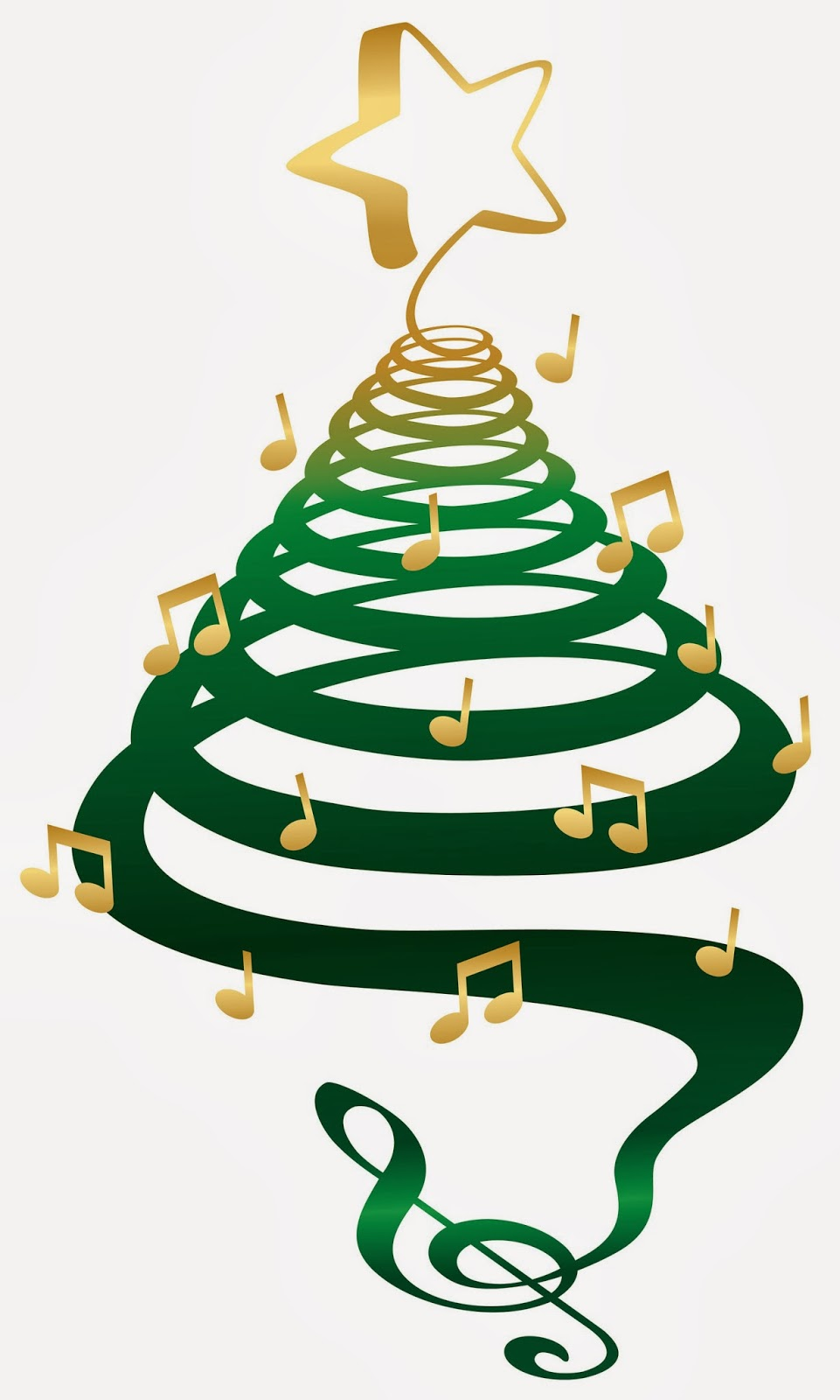 Christmas Tree Music Notes Clipart Panda Free, Christmas Music.