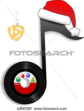 Clipart of Carol Musical Note for Holiday Christmas Music k2697290.
