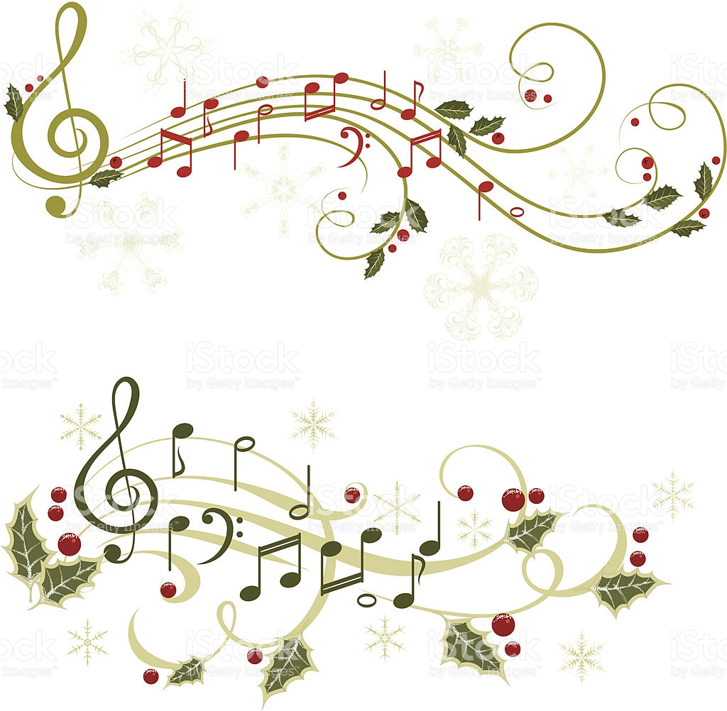 Christmas Music Notes Clipart (43+).
