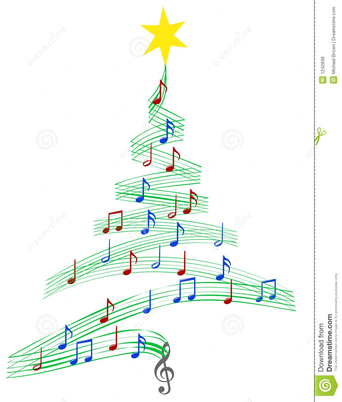 Christmas Music Notes Clipart#1911521.