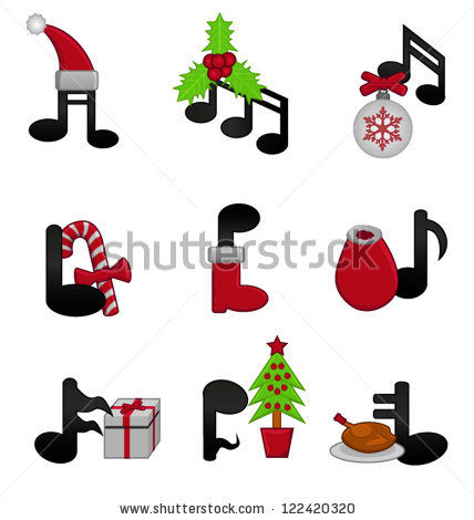 Musical Notes Christmas Stock Photos, Royalty.