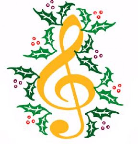 christmas music note clipart - Clipground