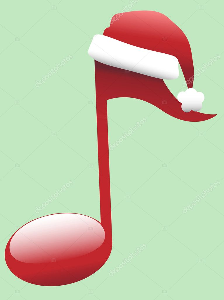 Clipart: christmas music notes.