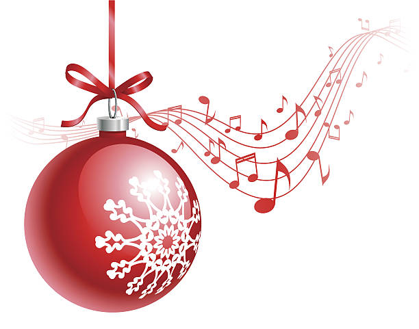 Best Christmas Musical Notes Illustrations, Royalty.
