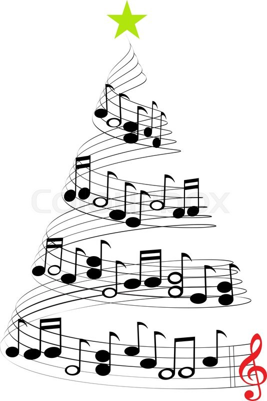 A Christmas tree of Musical Notes.