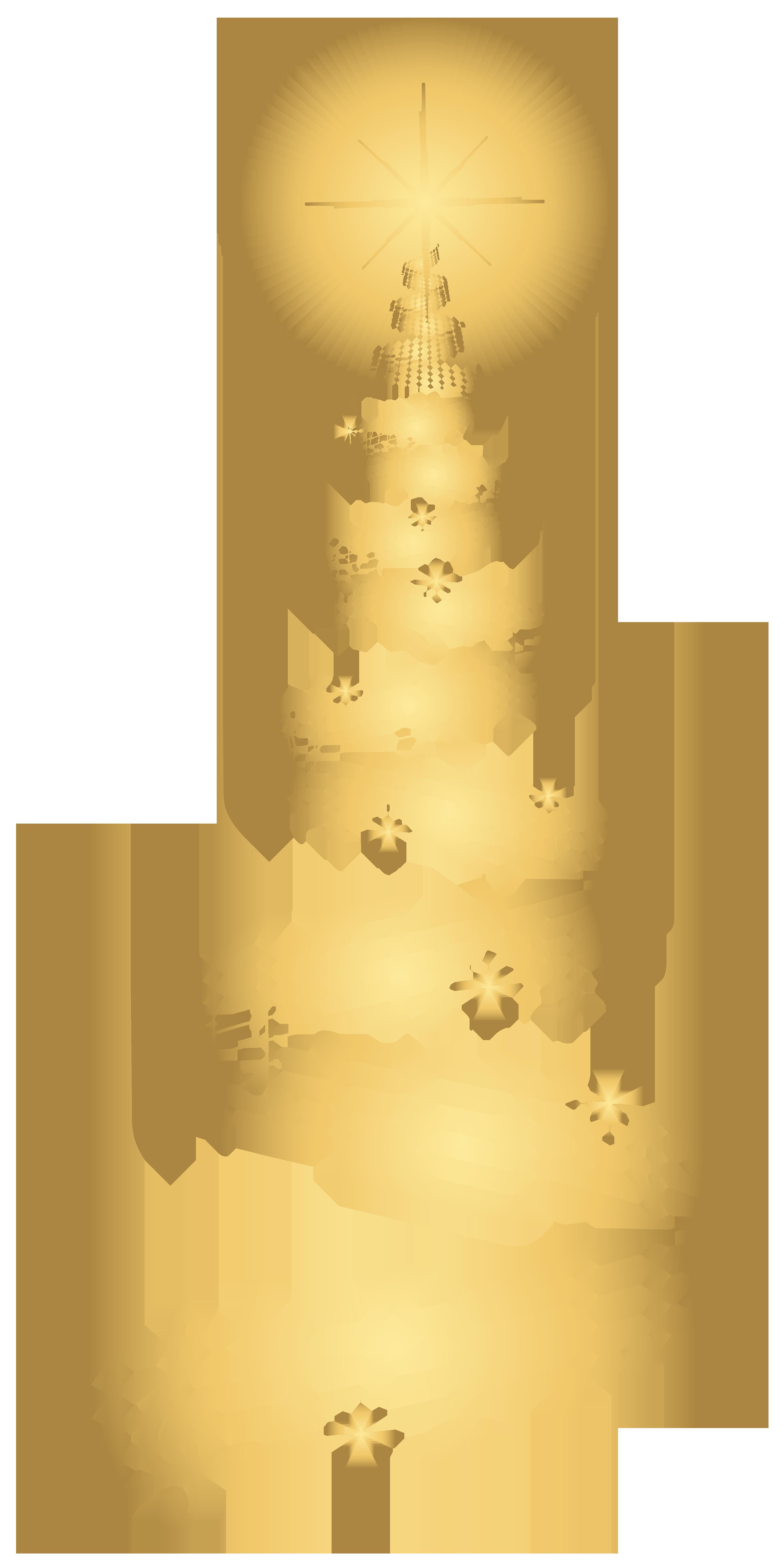 Golden Music Christmas Tree Transparent PNG Clip Art Image.
