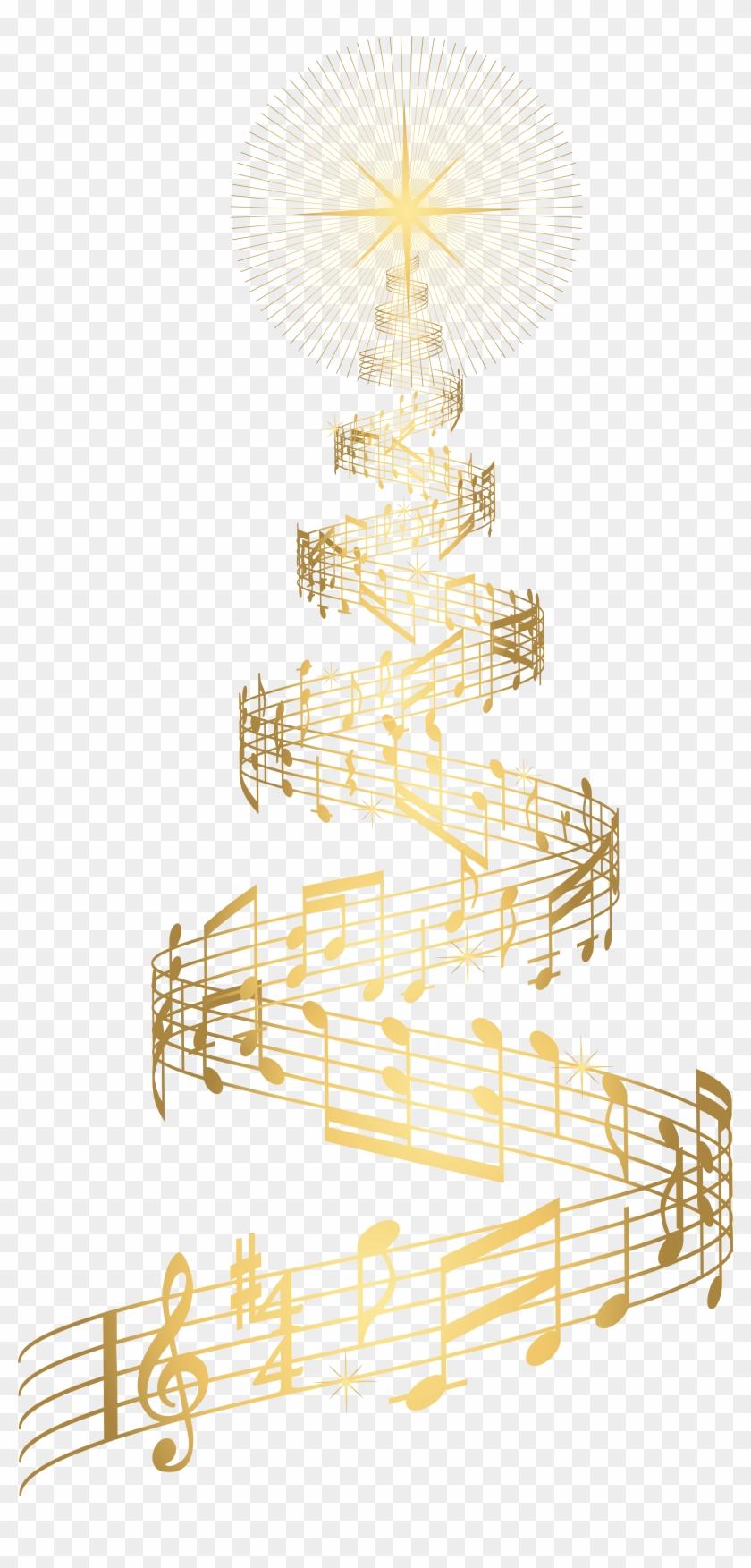Clipart Music Christmas Tree.