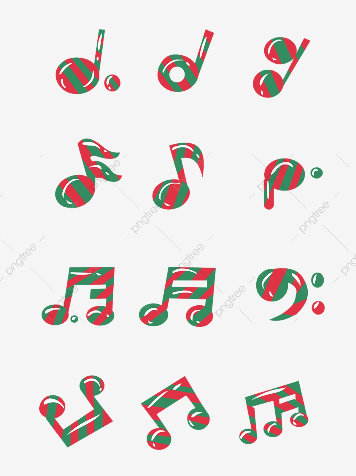 Hand Drawn Cartoon Christmas Music Elements Small Notes, Music.