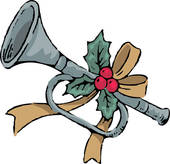 Clipart of holiday, instrument, wind instrument, musical.