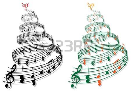 705 Musical Notes Christmas Stock Vector Illustration And Royalty.
