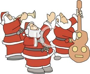 Christmas Musical Instruments Clipart.